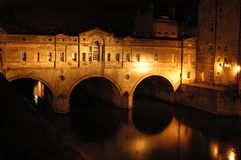 Pultney Bridge. In Bath, UK Stock Photos