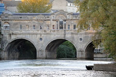 Pultney Bridge in Bath England. The Historic Pultney Bridge on the River Avon in Bath England Royalty Free Stock Photography