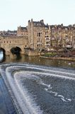 Pultney Bridge, Bath, UK. View of the famous Pultney Bridge over the River Avon Stock Photos