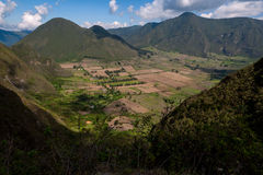 Pululahua Crater. A view of the crater of the Pululahua Volcano, near Quito, Ecuador Royalty Free Stock Image