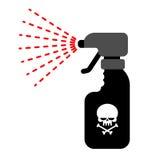Pulvérisateur avec le poison Liquide toxique dangereux des insectes Photos stock