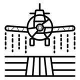 Pulvérisateurs plats, agriculture et agriculture, chiffon de culture de ferme illustration stock