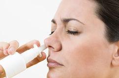 Pulvérisation nasale Image libre de droits