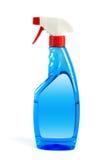 Pulvérisez la bouteille avec le studio de chemin de coupure d'isolement, concep de nettoyage photographie stock libre de droits