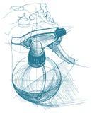 Pulvérisez le déclencheur, atomiseur, pulvérisateur, pulverizer, pistolet pneumatique Photographie stock