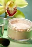 pulver för framsidablommaorchid Royaltyfria Foton