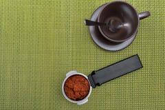 Pulver för kaffekopp och kaffe Royaltyfria Foton