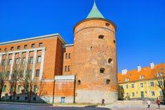 Pulver-Turm Latvian Pulvertornis ist der einzige Turm, der s hat lizenzfreies stockbild