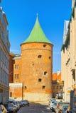 Pulver-Turm Latvian Pulvertornis ist der einzige Turm, der s hat stockfoto