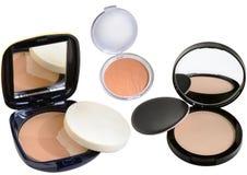Pulverask med spegeln Fotografering för Bildbyråer