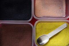 Pulverisieren Sie Sand für das Malen, Kind-` s Spielwaren lizenzfreie stockfotos