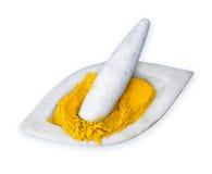 Pulverisierte Gelbwurz stockfoto