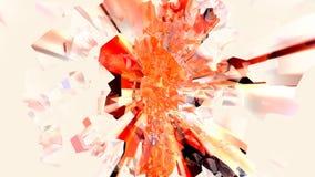 Pulverizador abstrato vermelho e alaranjado do plasma do cubo de gelo ilustração do vetor