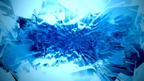 Pulverizador cromático azul do plasma do cubo de gelo com projetor ilustração royalty free