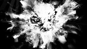 Pulverizador cromático preto do plasma do cubo de gelo com fugas ilustração royalty free
