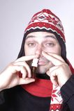 Pulverizador de nariz Imagem de Stock