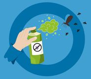 Pulverizador do mosquito Imagem de Stock Royalty Free