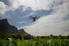 Pulverizador do zangão da agricultura para a exploração agrícola esperta Foto de Stock Royalty Free