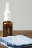 Pulverizador e lenço médicos Imagem de Stock Royalty Free