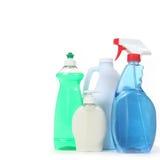 Pulverizador e sabão detergentes do indicador do descorante Imagem de Stock