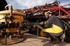 Pulverizador químico da exploração agrícola Imagem de Stock