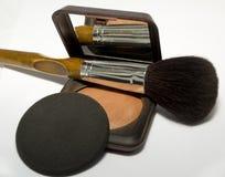 Pulverize e compo a escova Fotografia de Stock