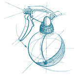 Pulverize o disparador, atomizador, pulverizador, pulverizer, pistola pneumática Imagem de Stock