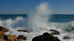 Pulverize o Mar Negro, Crimeia imagem de stock royalty free