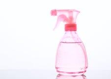 Pulverizer cor-de-rosa no fundo branco fotografia de stock royalty free