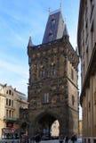 Pulvertorn i Prague Arkivbilder