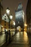 Pulvertorn i Prague Royaltyfri Foto