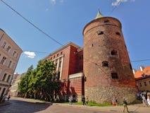 Pulvertorn, Lettland Riga Arkivfoton