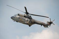 Puma Aérospatiale SA 330 de la fuerza aérea suiza Fotos de archivo libres de regalías