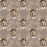 Puma cool seamless pattern Stock Images
