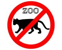 Puma dans le zoo interdit Images stock