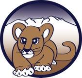 Puma de égrappage Images libres de droits