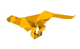 Puma. This is a digital drawing of an origami made puma Royalty Free Stock Images