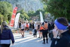 Puma event Run the lake - Athens, Greece Stock Images