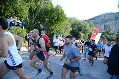 Puma event Run the lake - Athens, Greece Stock Photo