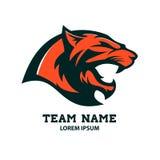 Puma head logo template. Design element Stock Photography