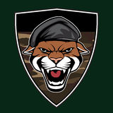 Puma Head military emblem Stock Photos