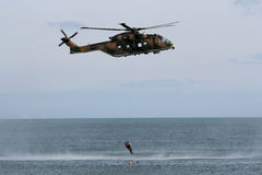 Puma helicopter rescue Stock Photography