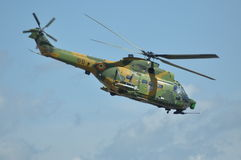 Puma helicopters in flight during a Military Parade Royalty Free Stock Image