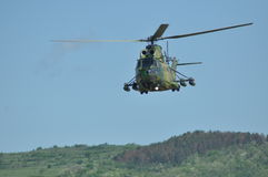 Puma helicopters in flight during a Military Parade Royalty Free Stock Photo