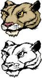 Puma-/Leoparden-Maskottchen-Zeichen Stockfoto