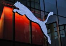 Puma Logo Neon light Royalty Free Stock Photography