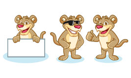 Puma Mascot Vector happy Stock Photography
