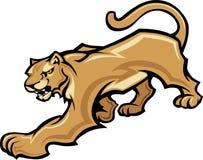 Puma-Maskottchen-Karosserien-Grafik Lizenzfreies Stockbild