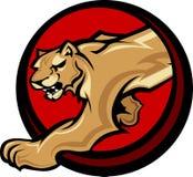 Puma-Maskottchen-Karosserien-Grafik Stockfoto