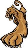 Puma-Maskottchen-Zeichen Lizenzfreie Stockfotos